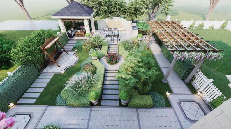 农村的小别墅花园怎么进行设计?