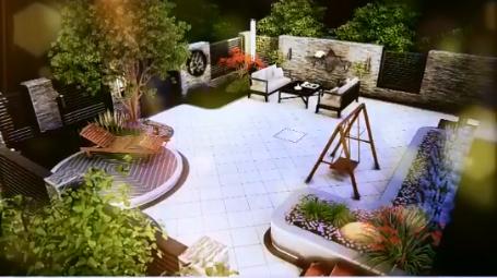 西安紫薇田园都市蓬莱仙境庭院设计