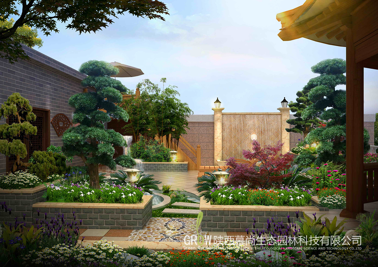庭院设计:一所庭院筑一座凉亭,让生活和艺术互相交融!