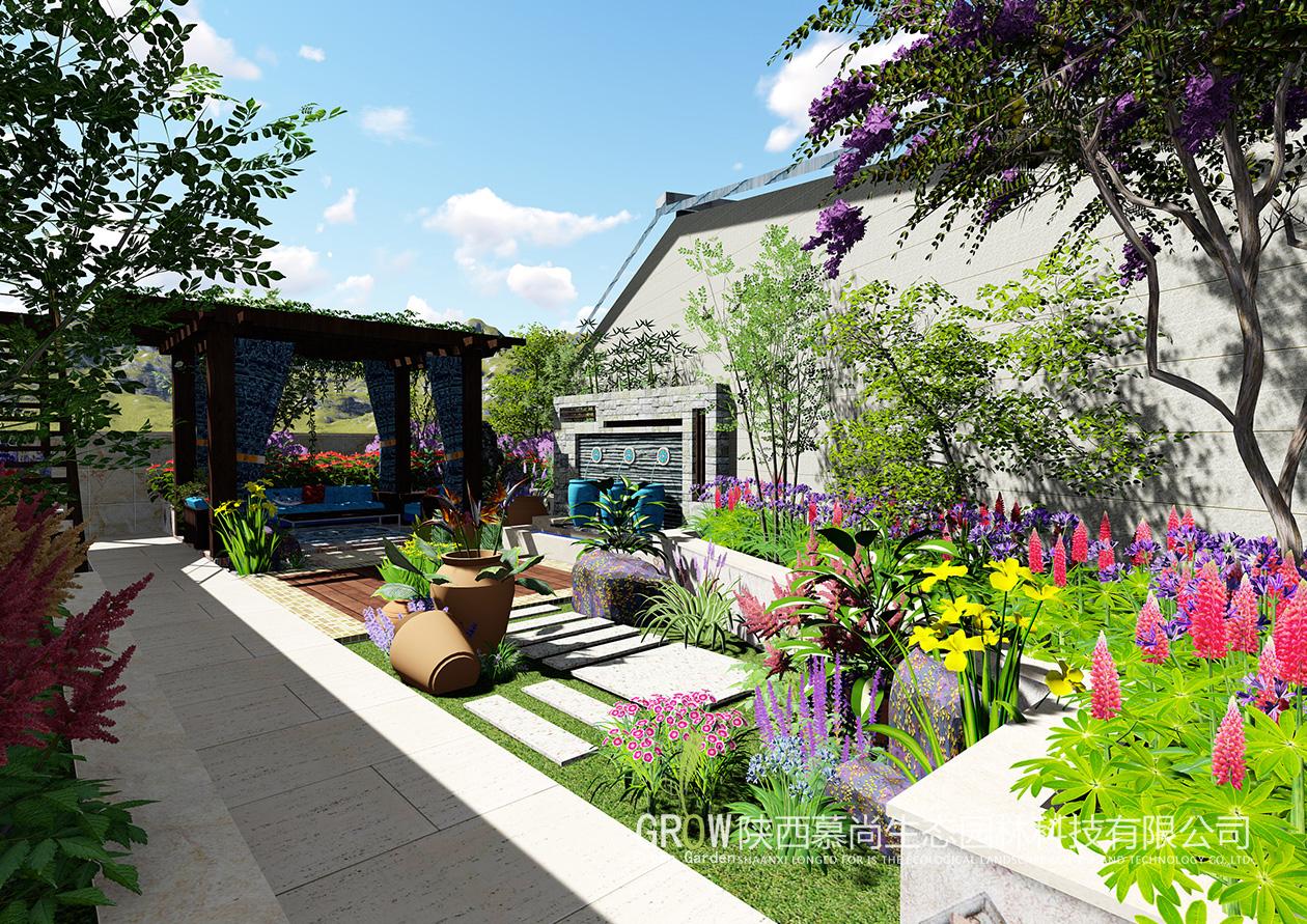 【慕尚生态园林】现代别墅的庭院设计