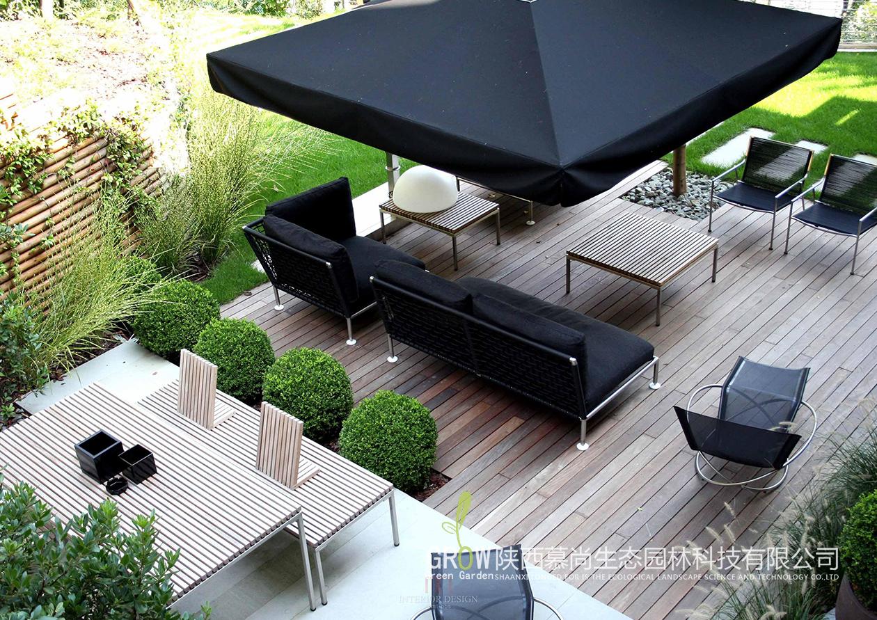 现代简约式别墅庭院景观