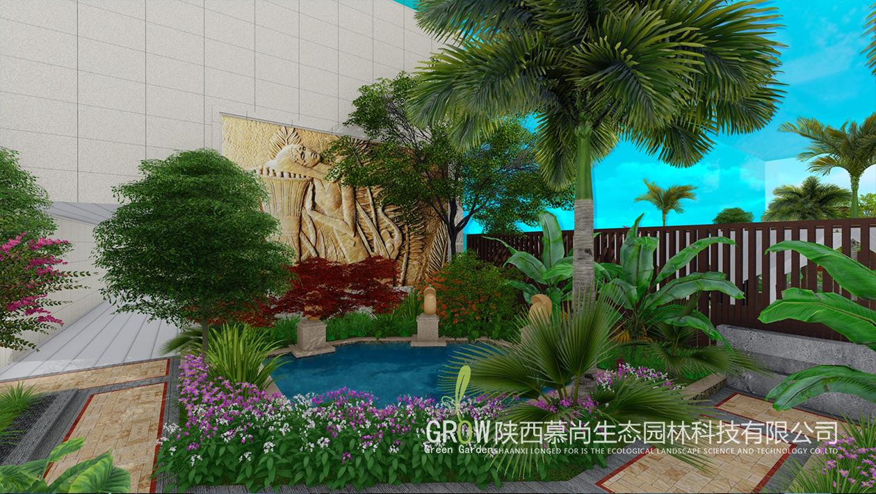 武威温泉酒店室内景观