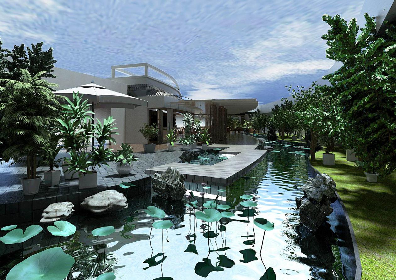 现代式庭院设计
