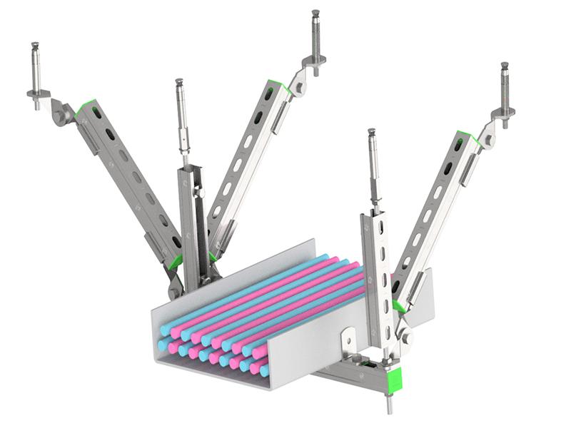 单层双向电缆桥架抗震支架