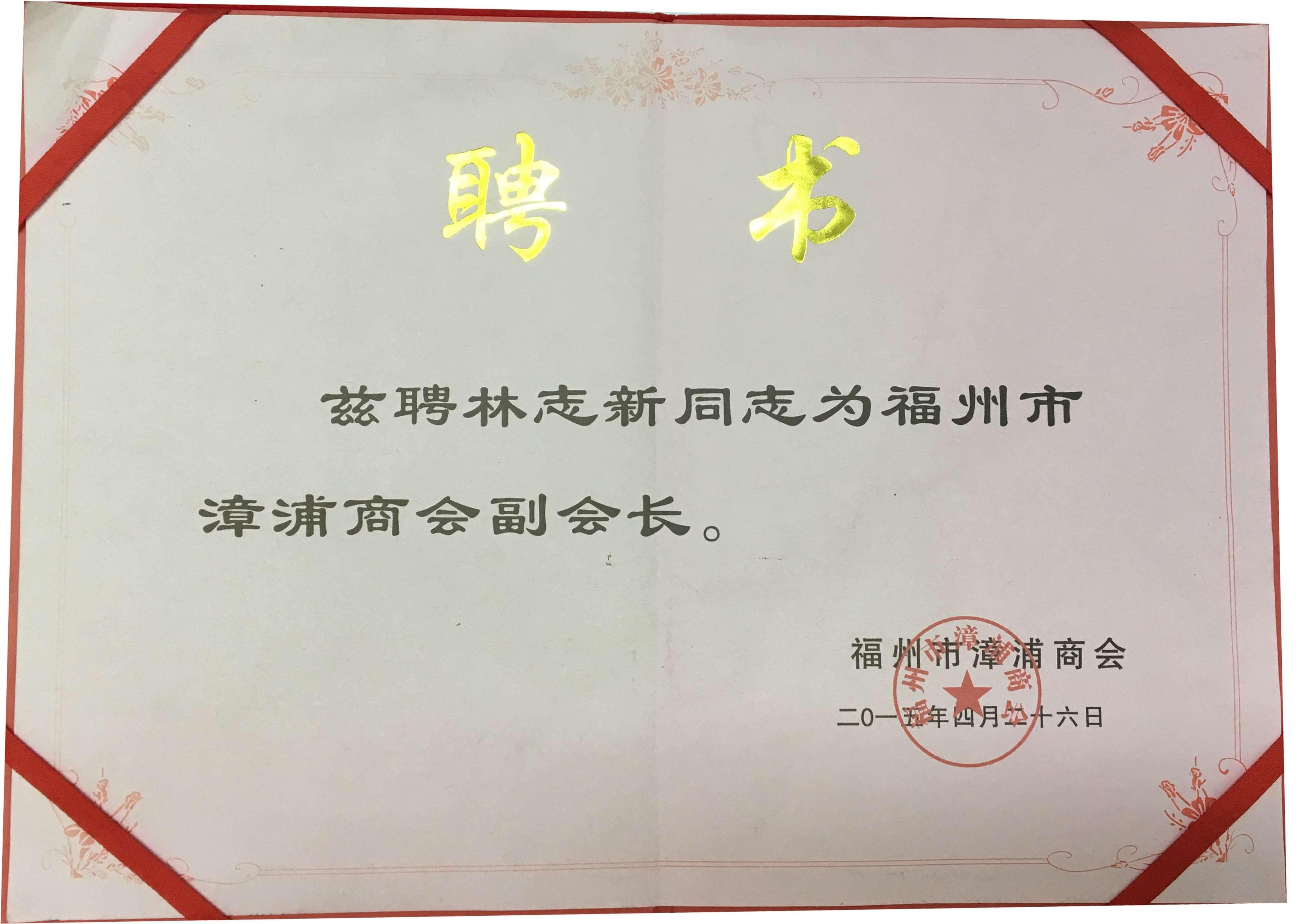 漳浦市副会长