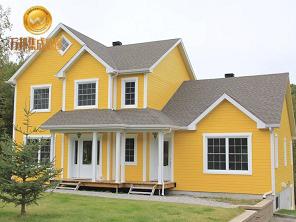 黄色豪华别墅