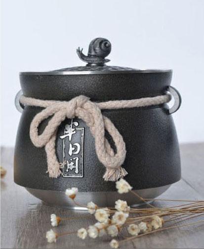 半日闲纯锡茶叶罐