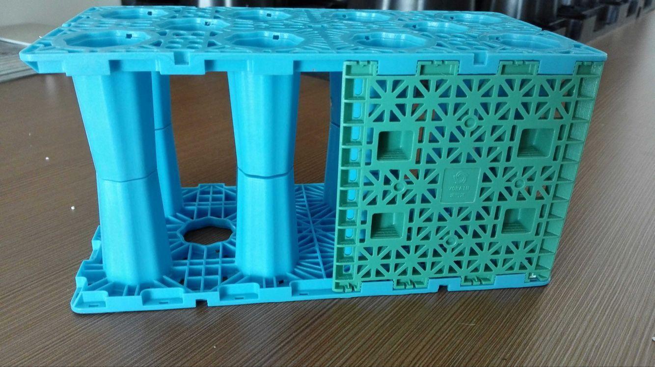昆明雨水回收利用系统之PP雨水收集模块蓝色图片展示