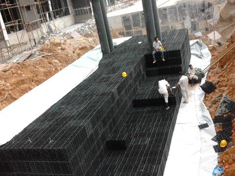 昆明pp雨水收集模块生产厂家现场施工图片展示