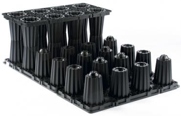 云南pp雨水收集模块产品细节特写展示(黑色)