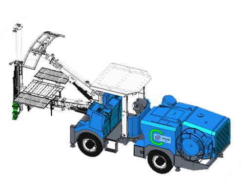 CWM1-25 矿用单臂液压锚杆台车