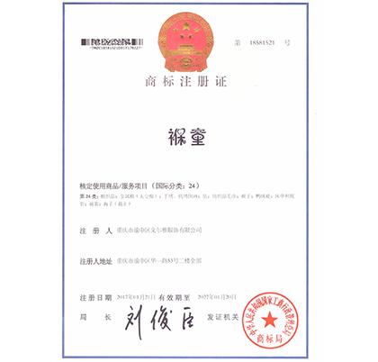 褓童商标注册证