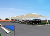 汽车膜结构停车棚工程