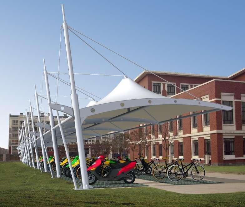 膜结构停车棚建筑主要特点是什么?