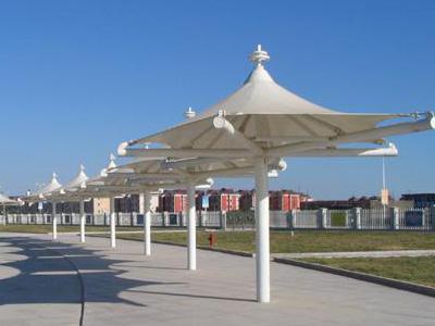膜结构停车棚的外观特点是什么?