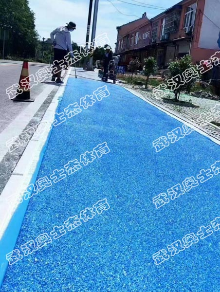 华中某行道透水案例