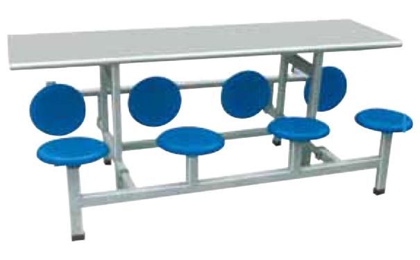 河池八人折叠餐桌