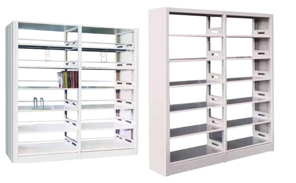 双柱单面书架