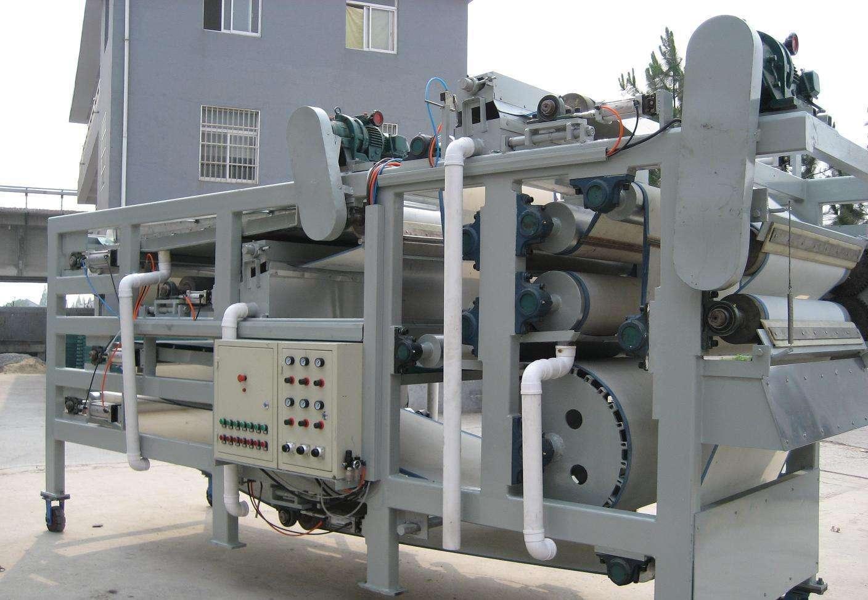 污泥脱水机的几个工作过程的阶段