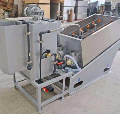 化工用叠螺式污泥脱水机的运行流程