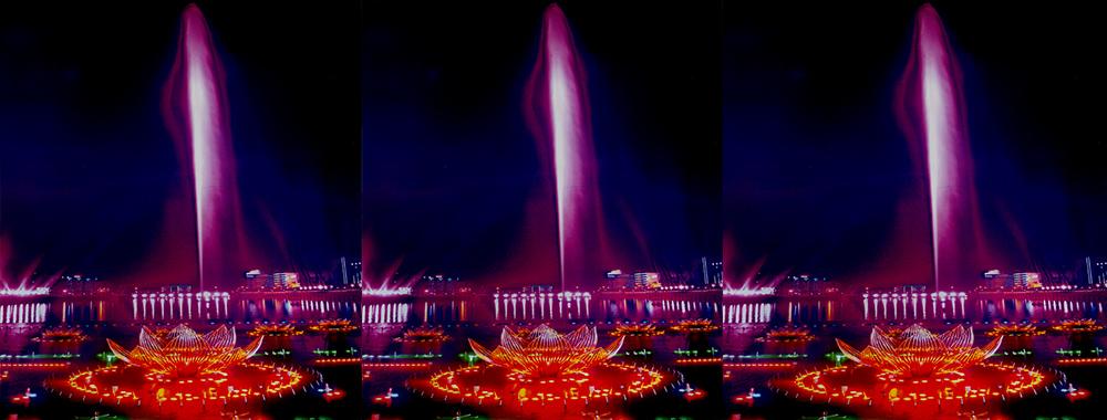华亭莲花湖音乐喷泉万能支撑器安装案例