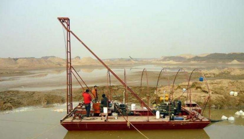 淘金船的运行速度--山东挖沙船生产厂家