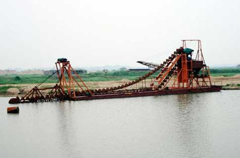 河道自动洗选淘金船实现全自动化节能环保
