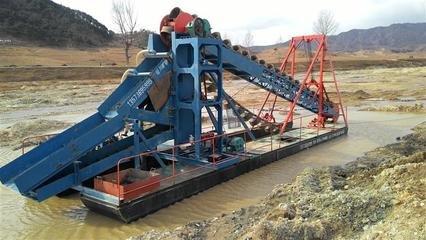 复杂河道中小型淘金船发挥什么作用