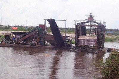 不同地形淘金船对应的不同的使用方案