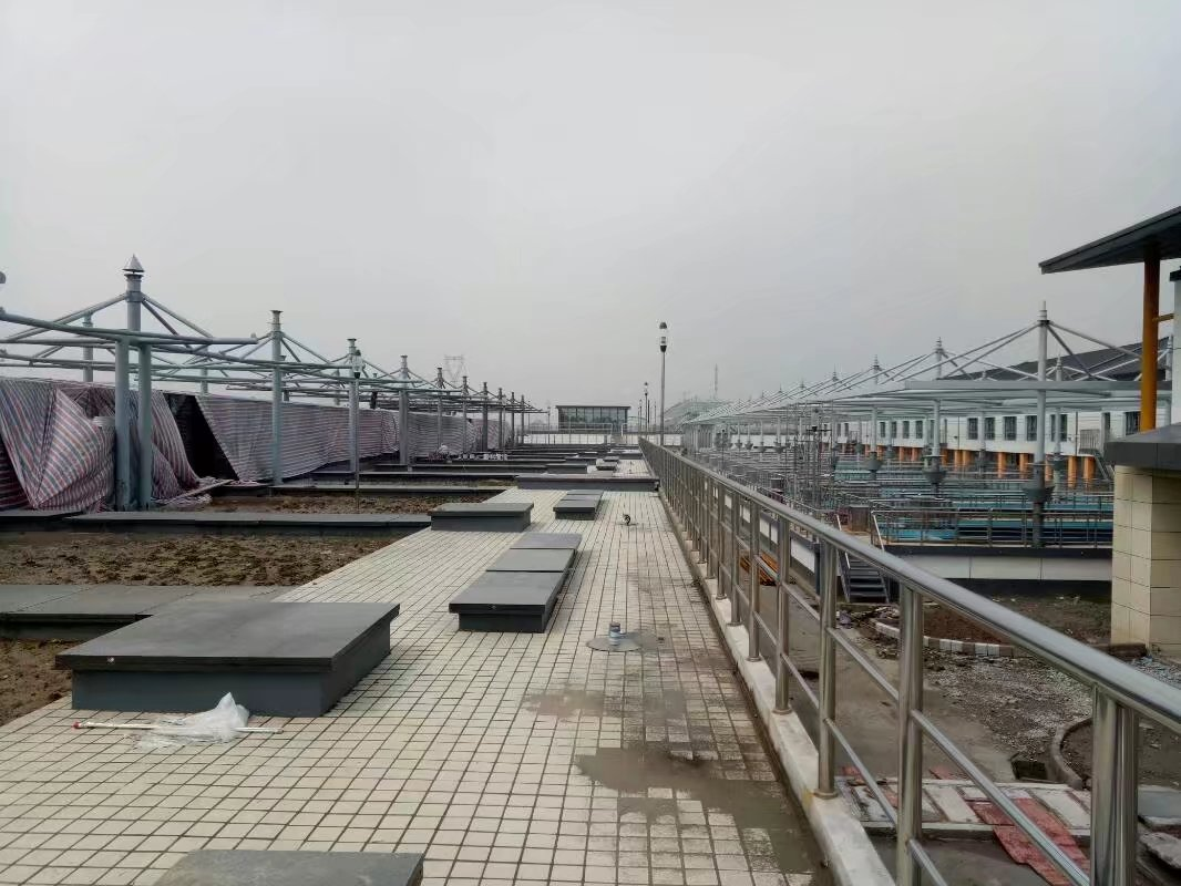 江苏南通水厂遮阳观景棚