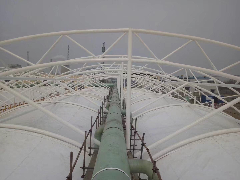 棗莊華潤造紙廠汙水池加蓋