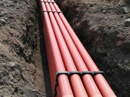 市政PVC电力管施工现场