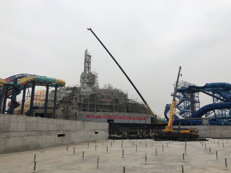 襄陽華僑城項目施工