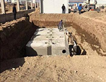榆中医院组合式水泥化粪池安装