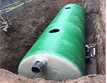 兰州新区三维环保型玻璃钢化粪池施工