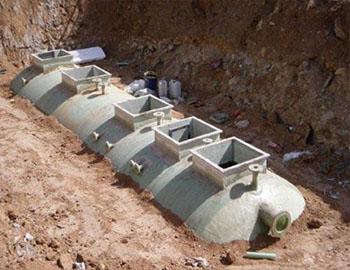 康乐县热力公司新型隔油池安装