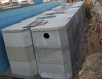 陇西万汇广场砼组合化粪池安装