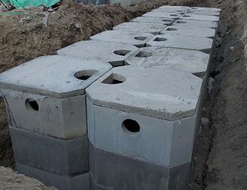 通渭亿联预制混凝土组合式化粪池施工