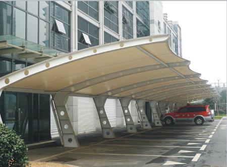 西安膜结构景观工程膜结构车棚就找西安博越膜结构工程