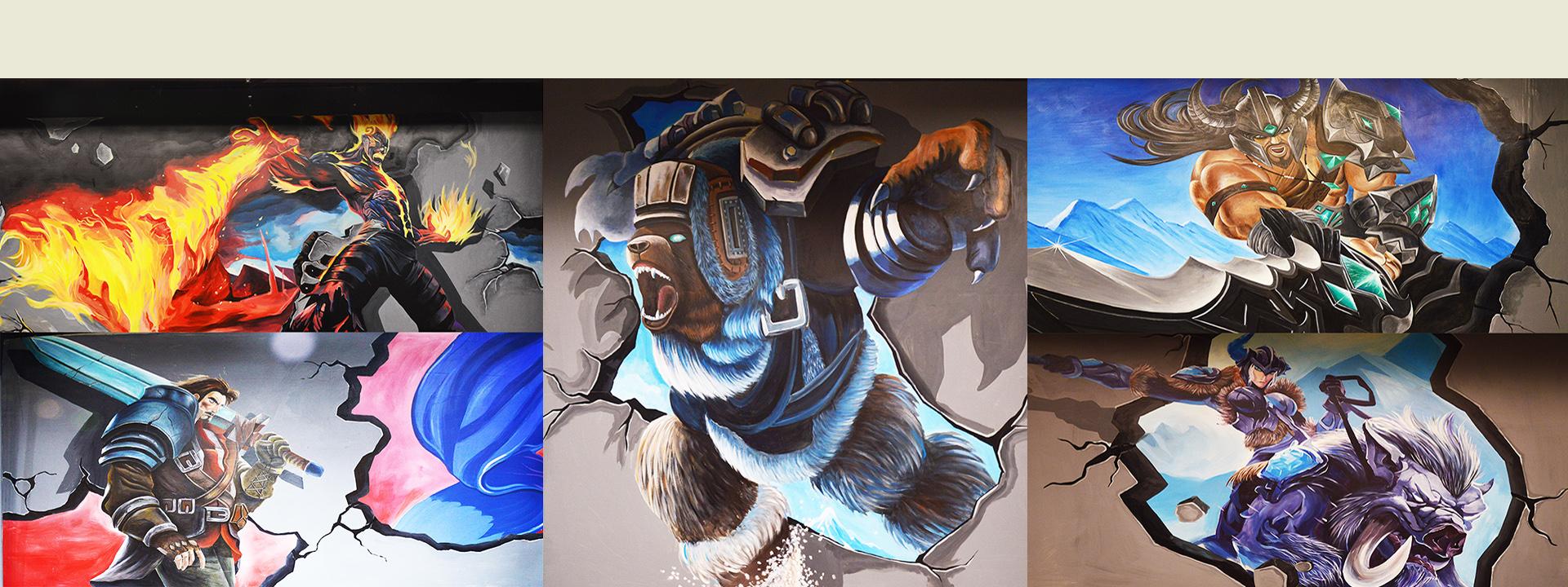 墙体彩绘手绘墙公司