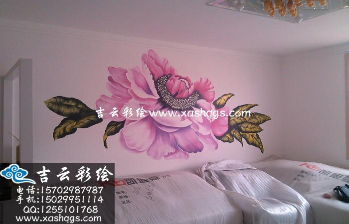 彩绘沙发背景墙