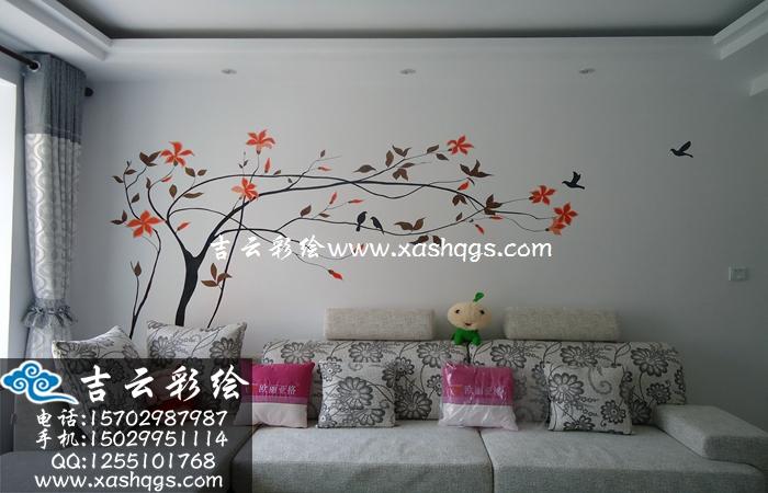 手绘背景墙
