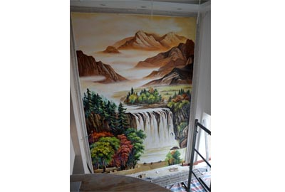 西安玄关手绘墙