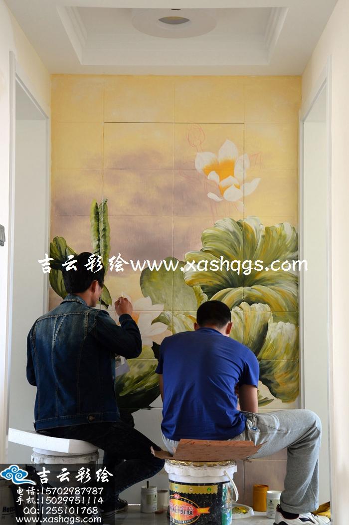 玄关彩绘墙