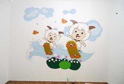 西安墙体彩绘儿童房