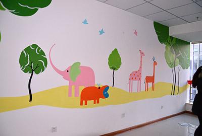 西安医院墙体彩绘