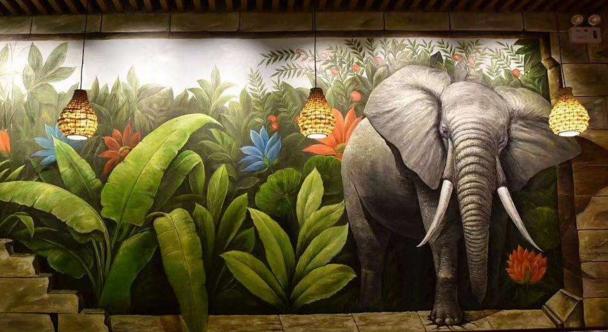 西安专业的手绘墙设计公司分享幼儿园墙绘的特点