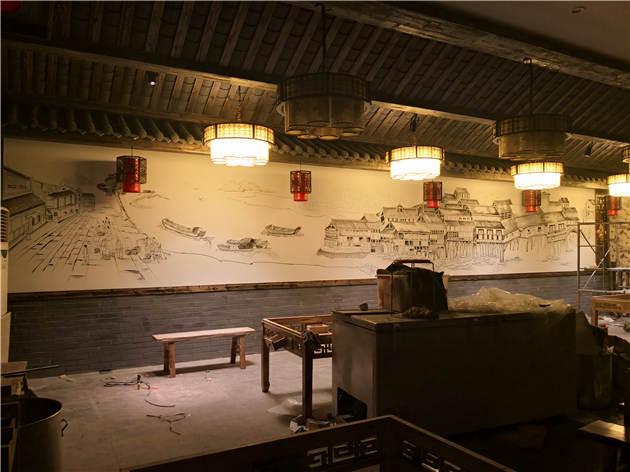 陕西餐饮墙体彩绘