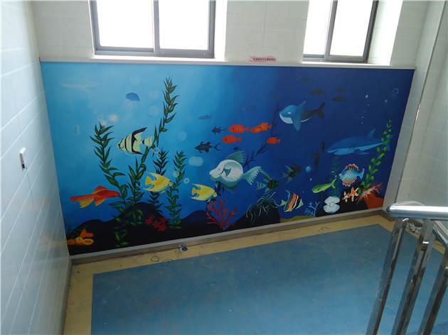 西安学校手绘墙