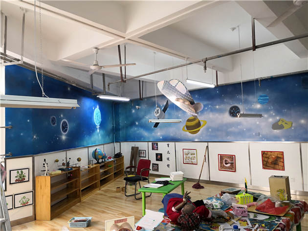 学校景墙设计手绘